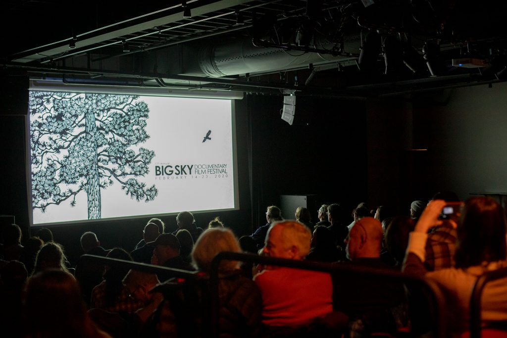 Photo of screening at the Big Sky Film Festival
