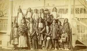 Arapaho and Shoshone Home from School: Children arrive off Train