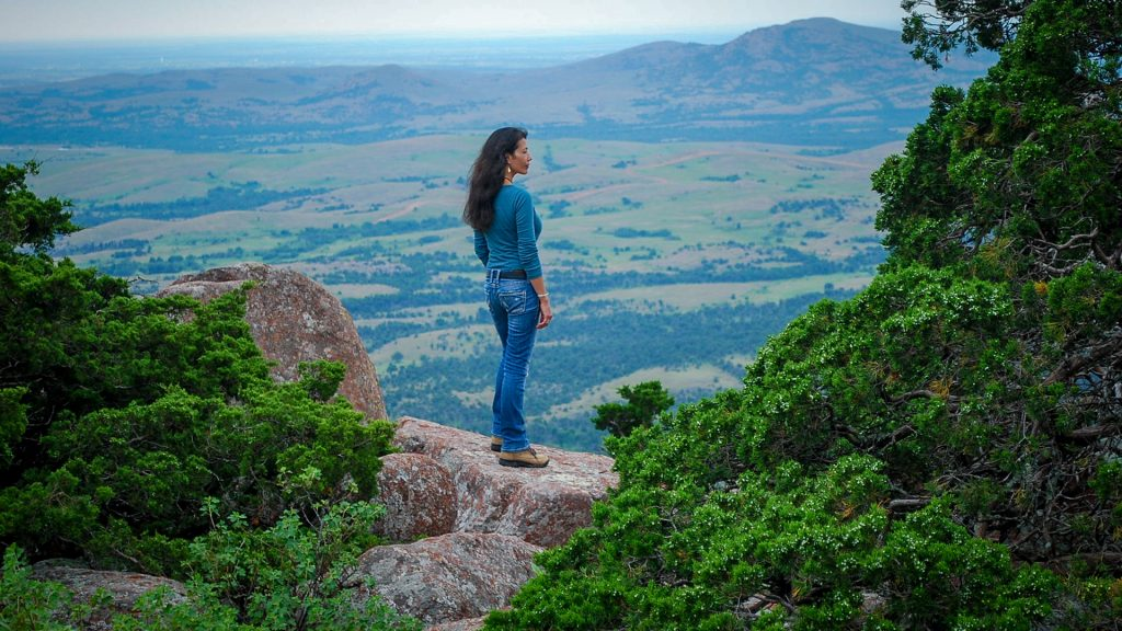 Jill Momaday during Return to Rainy Mountain